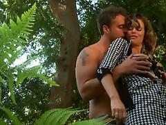 Horny milf Veronica Avluv blows cock of handsome gardener