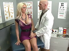 Pervert gynecologist fucks naughty Tanya James