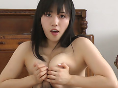 Busty Japanese babe Azusa Nagasawa gives great blowjob