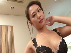 Charming babe Yayoi Yanagida stripping down on her sexy lingerie