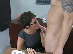 Strict teacher turns into dirty hag