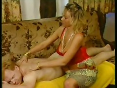 Mammary manor massage scene