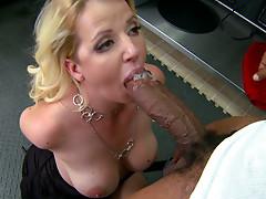Curvy bbw blonde milf Anita Blue sucks and fucks giant BBC.