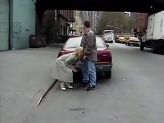 Sex in public places street, car and bus compilation - snake