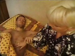 Blonde French mature piercing pussy