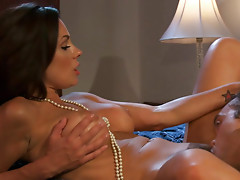 Curly housewife Kirsten Price is sucking dick