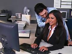 Secretary Priya Anjali Rai gets jizz of Xander Corvus