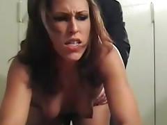 Stunning babe Sage sicks boss's dick