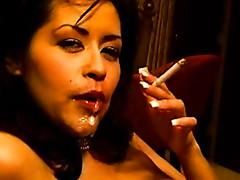 Smoker sucks cock to an orgasm