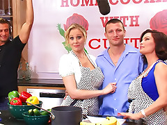 Cooking show ends with milf hardcore sex