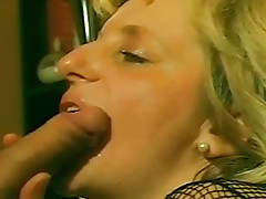 Mature retro sex in fishnets