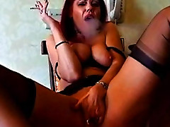 Redhead smokes and talks dirty to you