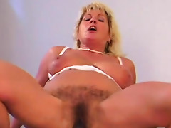 Interracial mature sex with hairy hole