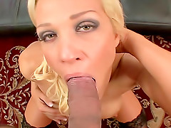 Great tits on cocksucking milf blonde