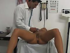 Doctor examines his sexy patient