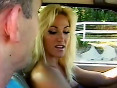 Awesome blonde with super huge tits likes her brave fucker