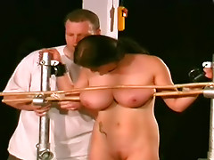 Tide and fatty brunette with huge boobies wants more fetish sex
