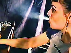Webcam smoking fetish video