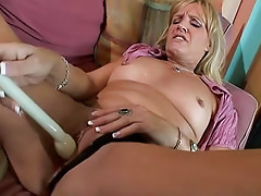 Masturbation makes milf horny for dick