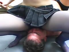 Sexy women facesitting with guys