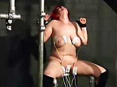 Fat girl loves tit pain