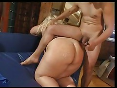 fat women use dildo and man
