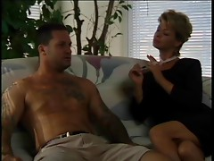 Hot Mature Cougar Sharin Rides Young Stud