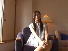 Skinny and long legged Asian babe Haruka Nagao goes so wild