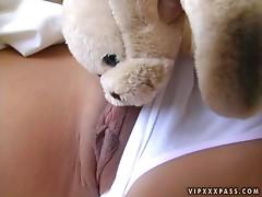 Sexy and cute Asian honey Kaiya loves it anal