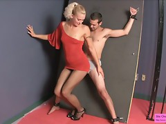 Spy Interrogation JC Simpson Ballbusting Fishnets Bondage