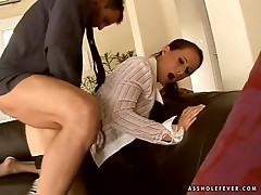 Amazingly hot secretary gets fucked and facialed