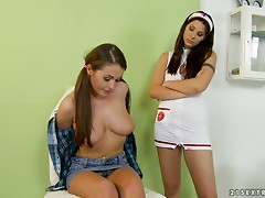 Horny Nelly Sullivan gets fisted and fingered by a nurse