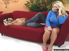 Busty blonde milf Rachel Love rides a dick and gets a creampie