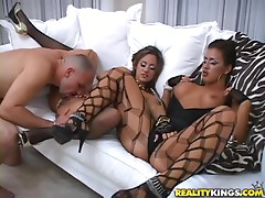 Smoking Hot Threesome In The VIP