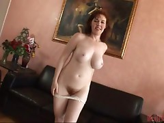 Mae Victoria the Redhead MILF gets her hairy pussy pounded