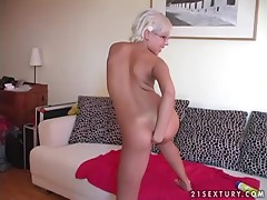 Daniella fucks her pussy with a stick and fists it ardently