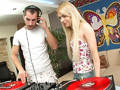 Spice the long haired blonde gets ass fucked by a DJ