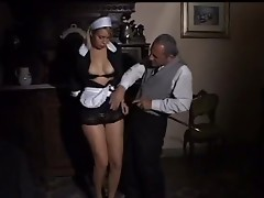 Maid joins household fuck