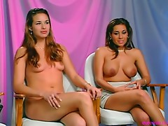 2 Hot Brunettes in a Sex game