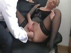 Fisting my german female doxy boss till this babe squirts