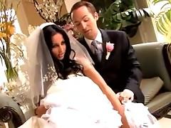 Audrey Bitoni copulates in her wedding suit