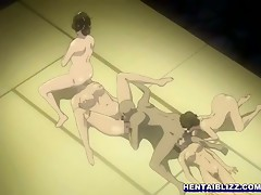 Japanese anime girls groupsex by ghetto anim