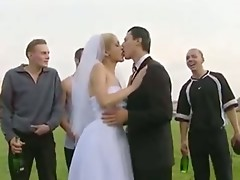 Bride fuck in public after wedding