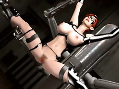 Huge cock bonks anime bdsm gal
