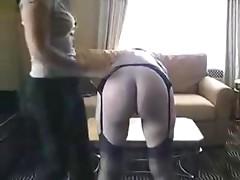 Mature female caned