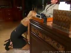 Horny secretary Tawny Roberts