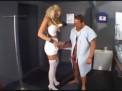 Nurse goes down