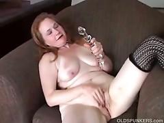 Sweet older sweetheart has a fat moist pussy