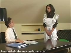 Charming brunette humiliated and screwed by an NKVD officer