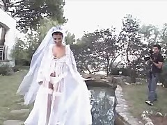 Bride after wedding. Photoshoot for her husband o.O